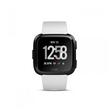 Fitbit Versa (NFC) w FitbitPay - White Band / Black Case