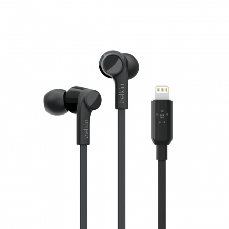 Belkin Earphones ROCKSTARª w Lightning Connector - Black