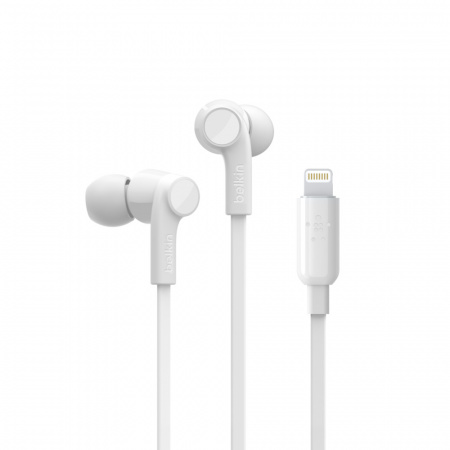 Belkin Earphones ROCKSTARª w Lightning Connector - White