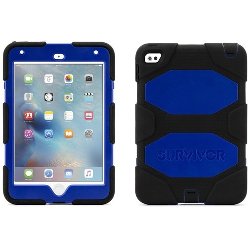 Griffin Survivor iPad mini 4 All-Terrain Rugged Case - Black/Blue
