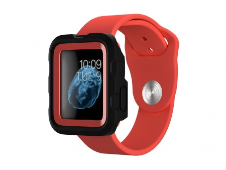 Griffin Survivor Tactical Case Apple Watch (38mm) - Coral Fire