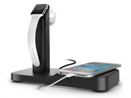 Griffin Powered Apple Watch Stand Apple Watch v1,v2 - Black
