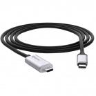Griffin Breaksafe Magnetic USB-C kabel - černá/stříbrná