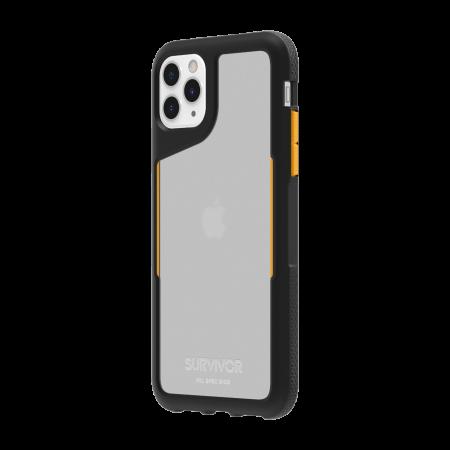 Griffin Survivor Endurance for iPhone 11 Pro Max - Black/Citrus/Clear