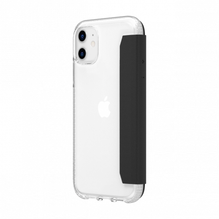 Griffin Survivor Clear Wallet for iPhone 11 - Clear/Black