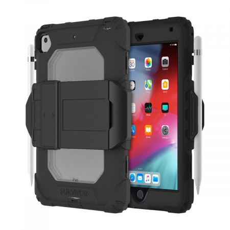 Griffin Survivor All-Terrain (w/ kickstand) for iPad mini 4,5 - Black/Clear