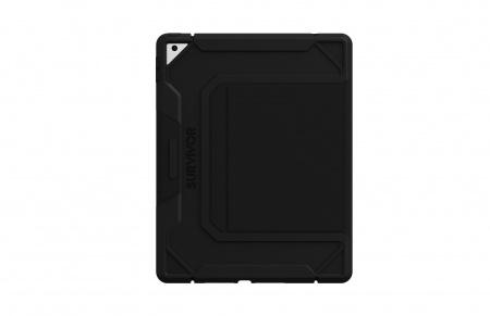 Griffin Survivor  Rugged Folio for iPad 10.2 (8th & 7th Generation) - Black
