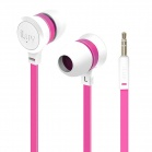 iLuv Neon Sound High Performance Stereo in-Ear Earphones - White/Pink