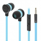 iLuv Neon Sound High Performance Stereo in-Ear Earphones with built-in mic and remote - Blue
