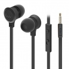 iLuv Neon Sound High Performance Stereo in-Ear Earphones with built-in mic and remotl - Black