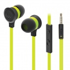 iLuv Neon Sound High Performance Stereo in-Ear Earphones with built-in mic and remote - Neon Green