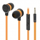 iLuv Neon Sound High Performance Stereo in-Ear Earphones with built-in mic and remote - Orange