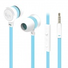 iLuv Neon Sound High Performance Stereo in-Ear Earphones with built-in mic and remote - White/Blue