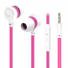 iLuv Neon Sound High Performance Stereo in-Ear Earphones with built-in mic and remote - White/Pink