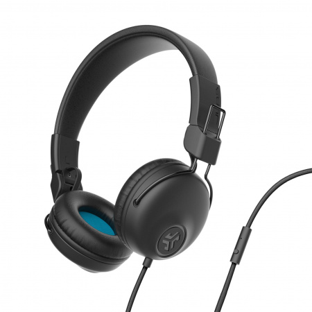 JLAB Studio Wired On Ear Headphones Black