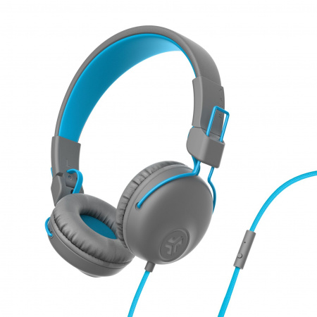 JLAB Studio Wired On Ear Headphones Grey/Blue