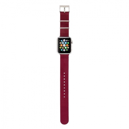 Incase Nylon Nato Band for Apple Watch 38mm - Deep Red