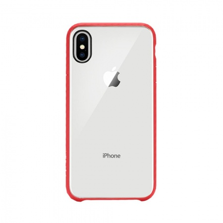 Incase Pop Case for iPhone X/XS - Clear/Red