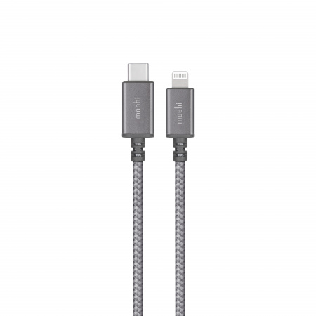 Moshi Integra USB-C Charge/Sync Cable with Lightning Connector (0.25m) - Titanium Gray