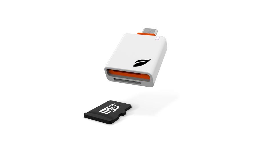 Leef Access Mobile SD Card Reader Android  - Retail Pkg - White Orange