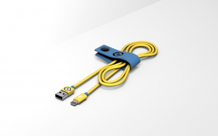 Tribe Minions Carl Lightning Cable (120cm) - Yellow
