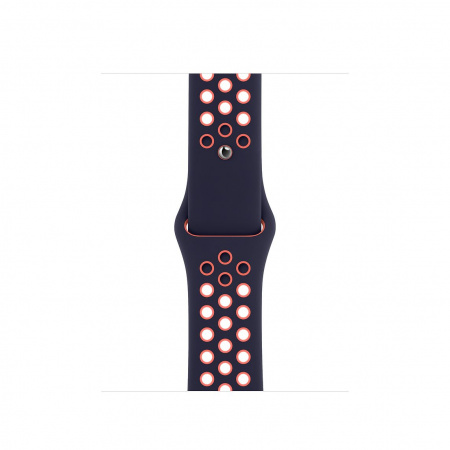 Apple Watch 40mm Nike Band: Blue Black/Bright Mango Nike Sport Band - Regular (Seasonal Fall 2020)