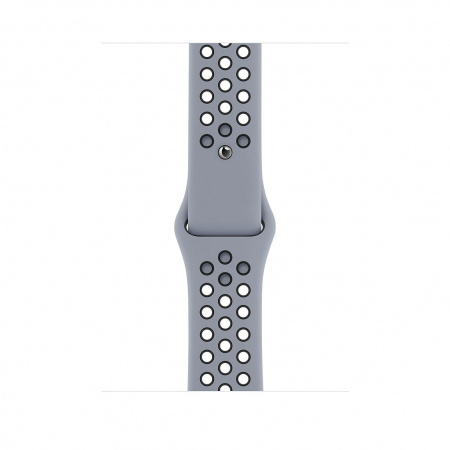 Apple Watch 44mm Nike Band: Obsidian Mist/Black Nike Sport Band - Regular (Seasonal Fall 2020)