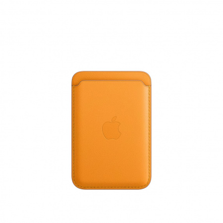 Apple iPhone Leather Wallet with MagSafe - California Poppy (Seasonal Fall 2020)