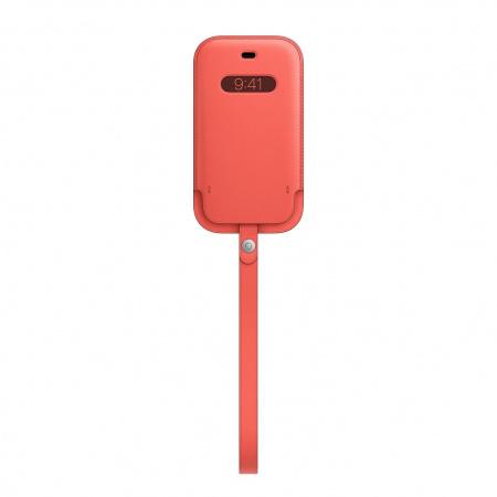 Apple iPhone 12 mini Leather Sleeve with MagSafe - Pink Citrus (Seasonal Nov 2020)