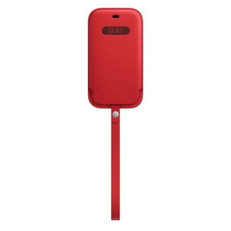 Apple iPhone 12|12 Pro Leather Sleeve with MagSafe - (PRODUCT)RED