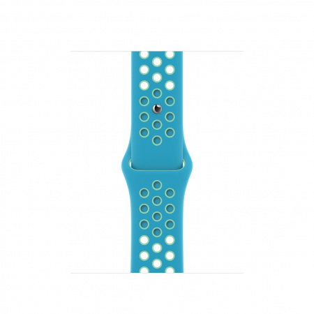 Apple Watch 40mm Nike Band: Chlorine Blue/Green Glow Nike Sport Nike Band - Regular (Seasonal Spring2021)