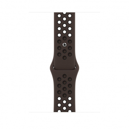 Apple Watch 44mm Nike Band: Ironstone/Black Nike Sport Nike Band - Regular (Seasonal Spring2021)