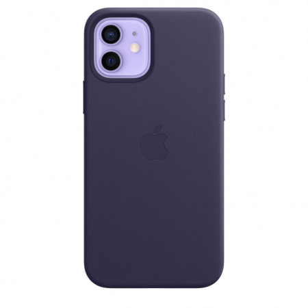 Apple iPhone 12/12 Pro Leather Case with MagSafe - Deep Violet (Seasonal Spring2021)