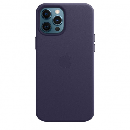 Apple iPhone 12 Pro Max Leather Case with MagSafe - Deep Violet (Seasonal Spring2021)