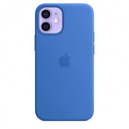 Apple iPhone 12 mini Silicone Case with MagSafe - Capri Blue (Seasonal Spring2021)