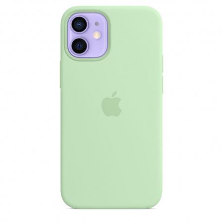 Apple iPhone 12 mini Silicone Case with MagSafe - Pistachio (Seasonal Spring2021)