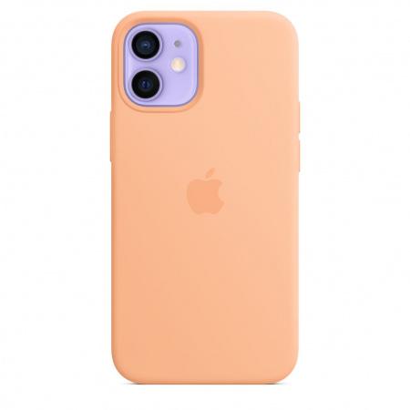 Apple iPhone 12 mini Silicone Case with MagSafe - Cantaloupe (Seasonal Spring2021)
