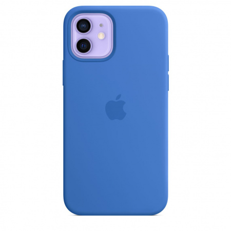 Apple iPhone 12/12 Pro Silicone Case with MagSafe - Capri Blue (Seasonal Spring2021)