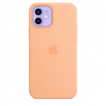 Apple iPhone 12/12 Pro Silicone Case with MagSafe - Cantaloupe (Seasonal Spring2021)