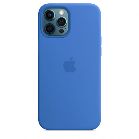 Apple iPhone 12 Pro Max Silicone Case with MagSafe - Capri Blue (Seasonal Spring2021)