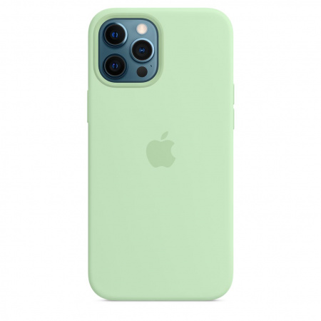 Apple iPhone 12 Pro Max Silicone Case with MagSafe - Pistachio (Seasonal Spring2021)