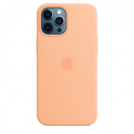 Apple iPhone 12 Pro Max Silicone Case with MagSafe - Cantaloupe (Seasonal Spring2021)