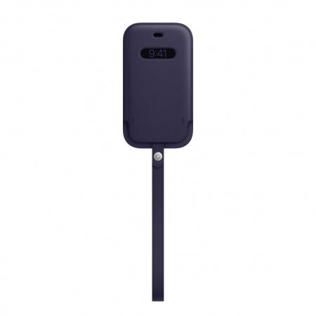 Apple iPhone 12 mini Leather Sleeve with MagSafe - Deep Violet (Seasonal Spring2021)