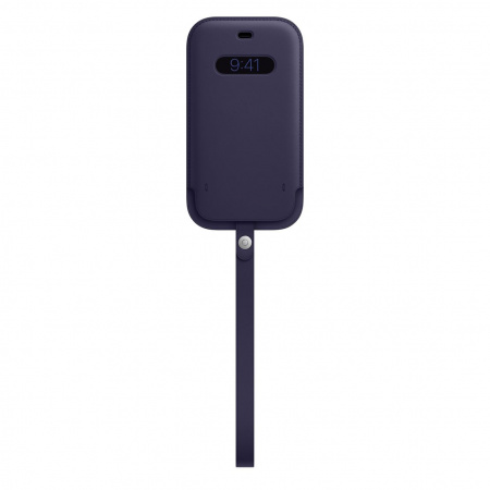 Apple iPhone 12/12 Pro Leather Sleeve with MagSafe - Deep Violet (Seasonal Spring2021)