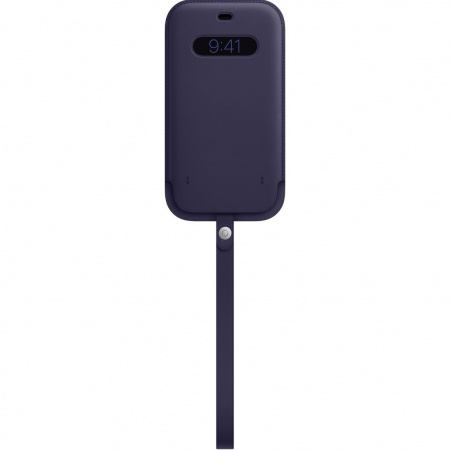 Apple iPhone 12 Pro Max Leather Sleeve with MagSafe - Deep Violet (Seasonal Spring2021)