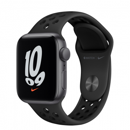 Apple Watch Nike SE (v2) GPS, 40mm Space Grey Aluminium Case with Anthracite/Black Nike Sport Band - Regular