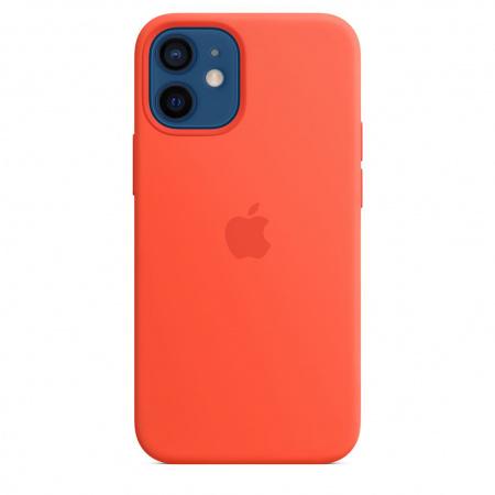Apple iPhone 12 mini Silicone Case with MagSafe - Electric Orange