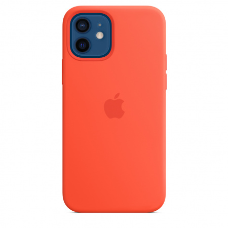 Apple iPhone 12 | 12 Pro Silicone Case with MagSafe - Electric Orange