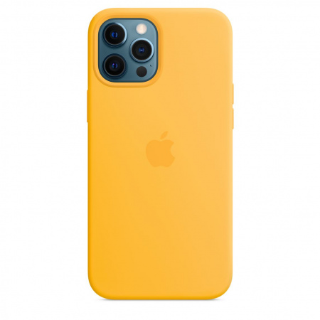 Apple iPhone 12 Pro Max Silicone Case with MagSafe - Sunflower