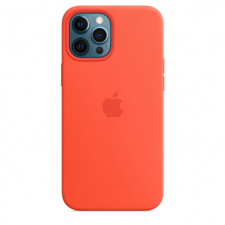 Apple iPhone 12 Pro Max Silicone Case with MagSafe - Electric Orange